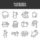 Water icon set Royalty Free Stock Photo