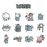 Water icon set Stock Photo