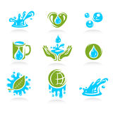 Water icon set. Vector Stock Image