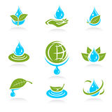 Water icon set. Vector. Illustration Royalty Free Stock Images