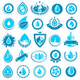 Water icon set. Vector Royalty Free Stock Photo