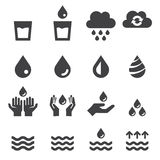 Water icon set Royalty Free Stock Photo