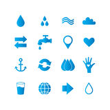 Water icon set Stock Images