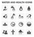 Water icon sets. Water and health vector icon sets design vector illustration