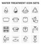 Water icon sets. Water treatment vector icon sets design Stock Photo