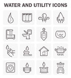 Water icon sets Stock Photos