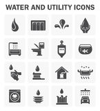 Water icon sets Royalty Free Stock Image