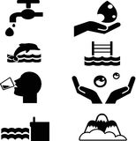 water icon Royalty Free Stock Images