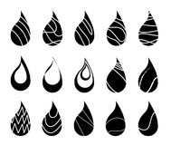 Water Icon Vector Design Style. And line Royalty Free Stock Images