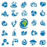 Water icons Stock Photo