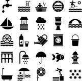 Water icons Royalty Free Stock Images