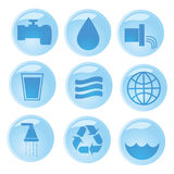 Water icons Royalty Free Stock Image