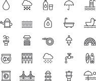 Water icons Royalty Free Stock Photo
