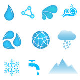 Water icons Royalty Free Stock Photos
