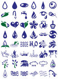 Water icons Stock Photos