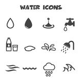 Water icons. Mono vector symbols royalty free illustration