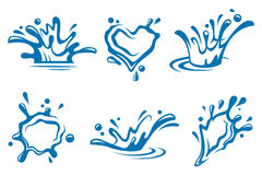 Water icons Stock Photography