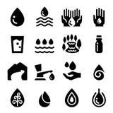 Water icons set Stock Photo