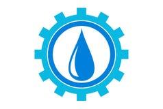 Water industries logo dsign stock illustration