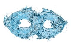 Water infinity symbol, 3D rendering. Isolated on white background Royalty Free Stock Image
