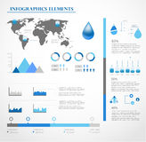 Water infographics. Information Graphics. Stock Photos