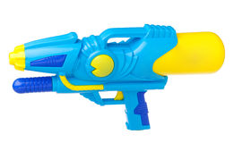 Toy gun isolated on white. Colorful watering injection toy gun for spray and watering each other in hot season or sport games, an image isolated on white Stock Image