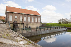 Water inlet of historical pumping station Royalty Free Stock Photos