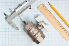 Water inlet valve Stock Photo