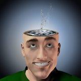 Water inside head splash Royalty Free Stock Photo