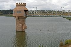 WATER INTAKE TOWER IN RIETVLEI DAM Stock Image