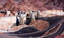 Hoover Dam. Water intake towers at Hoover Dam Stock Image