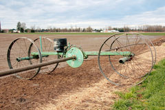 Water Irrigation Wheel and Mechanism Royalty Free Stock Photo