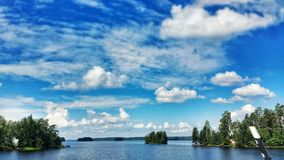 Water and islands. Water, Islands, Sky, Nature, Forest, Landscape Royalty Free Stock Images