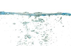 Water isolated over white royalty free stock photography