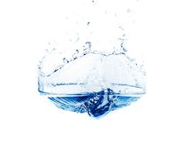 Water isolated. Water surface isolated on white Stock Photography