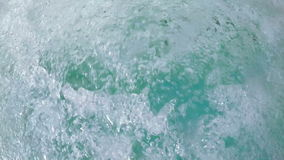 Water in the jacuzzi. Boiling water in the jacuzzi in the water park stock footage