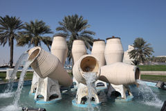 Water jar fountain in Doha Stock Images