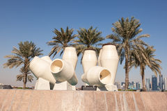 Water jar fountain in Doha, Qatar Stock Photography