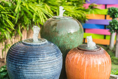 Water jar in the garden Stock Images