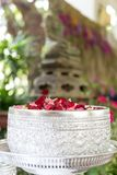 Water with jasmine and roses corolla in bowl for Songkran festival. In Thailand Royalty Free Stock Photo