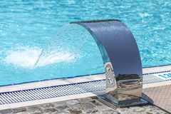 Water jet technology for swimming pool Stock Photo