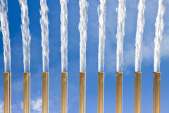 Water jets of a modern fountain - Freshness concept (East distri Royalty Free Stock Image