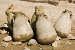 Water Jugs in the Desert Royalty Free Stock Images