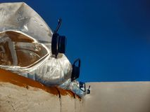 Water jugs on the roof Royalty Free Stock Photography