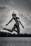 Water jump Royalty Free Stock Photos