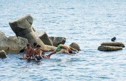 Water jumping fun Stock Photos