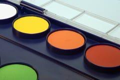 Water-kleur doos stock fotografie