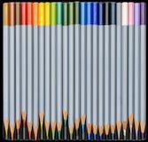 Water-kleur Potloden 07 Royalty-vrije Stock Afbeeldingen