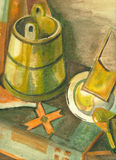Water-kleur stilleven Royalty-vrije Stock Fotografie