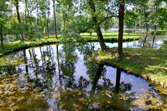 Water labyrinth in Gatchina park, Russia Royalty Free Stock Images